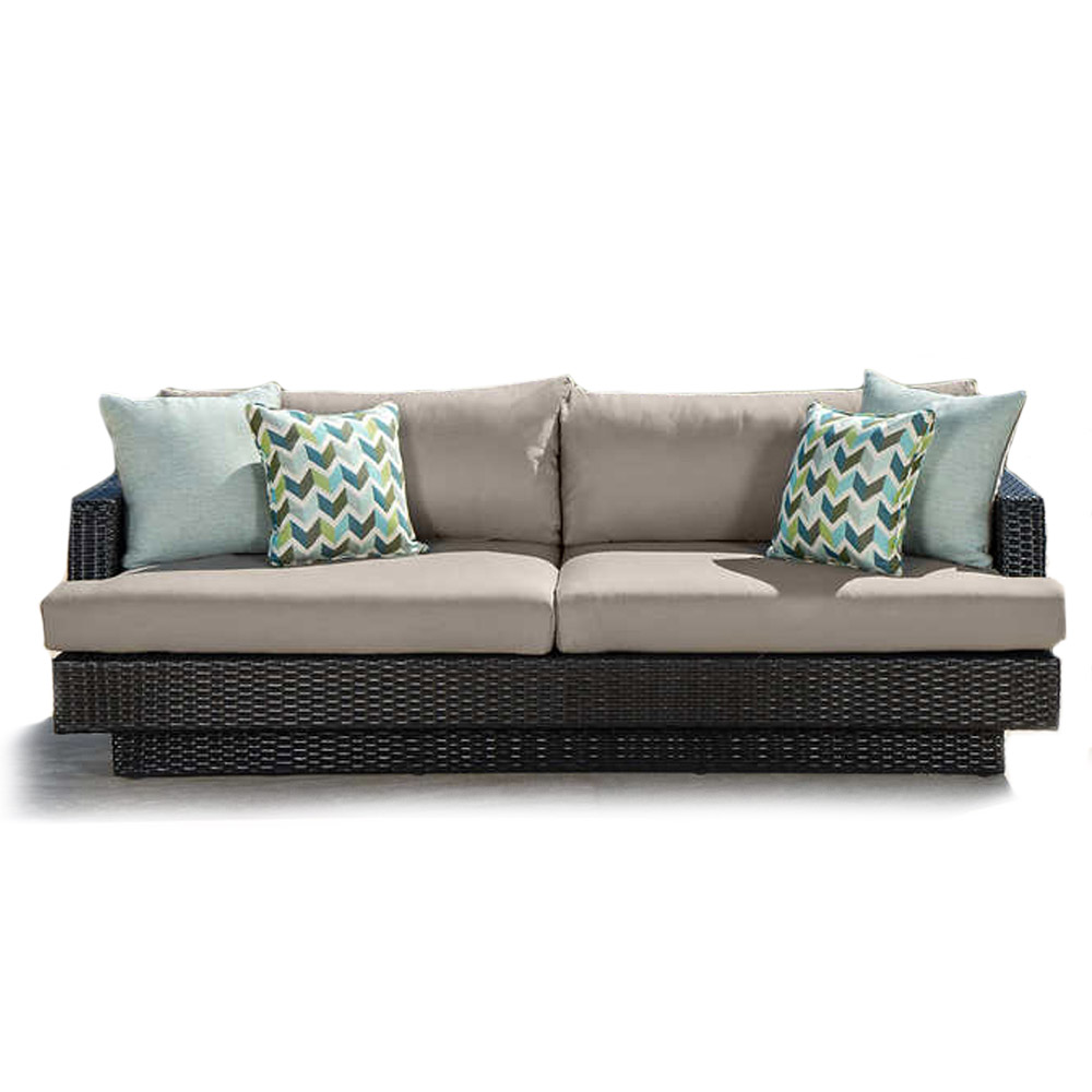 Portofino Comfort 7-piece Deep Seating Set in Taupe Mist