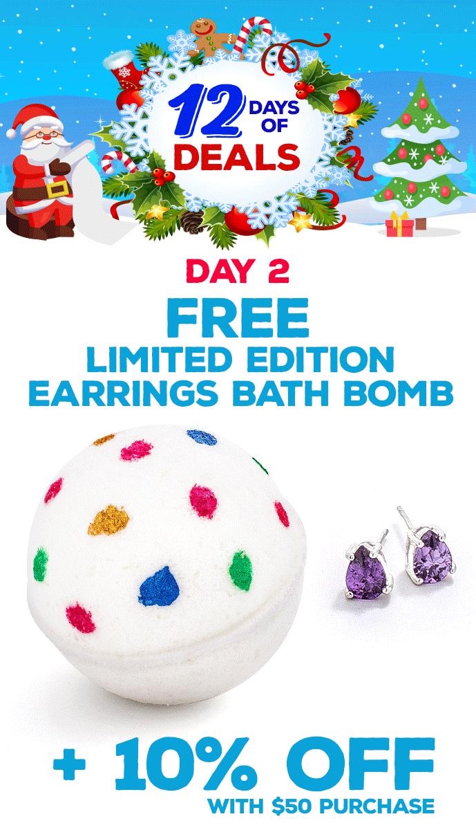 Free Earring Bath Bomb
