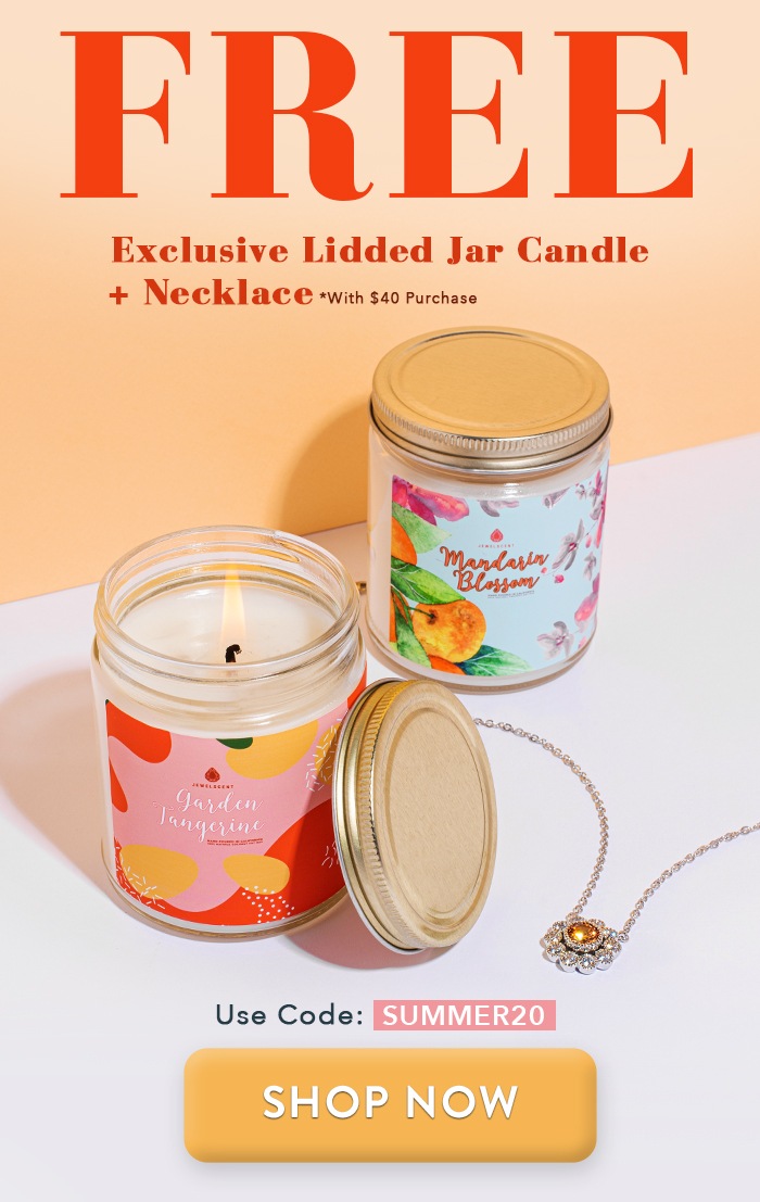 Exclusive Lidded Jar Candle + Necklace