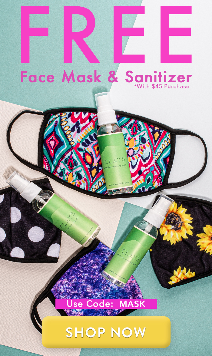 Free Face Mask & Sanitizer Spray