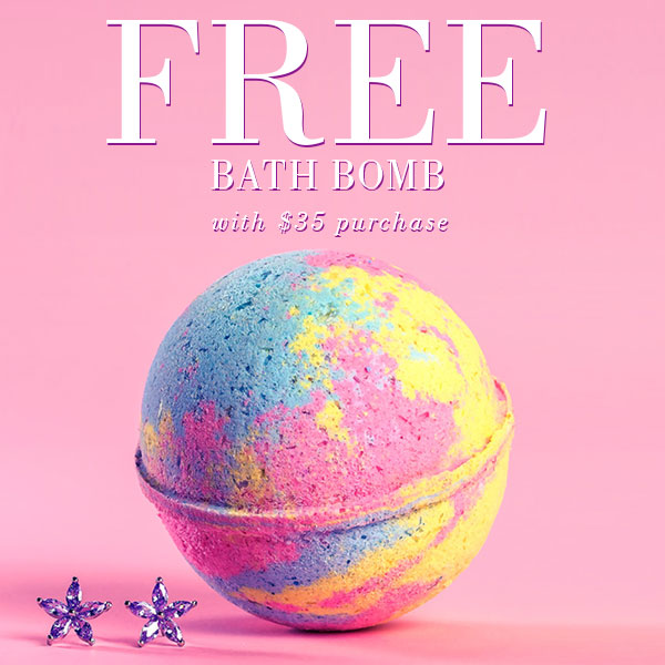 Free Jewelry Bath Bomb with $35 Purchase