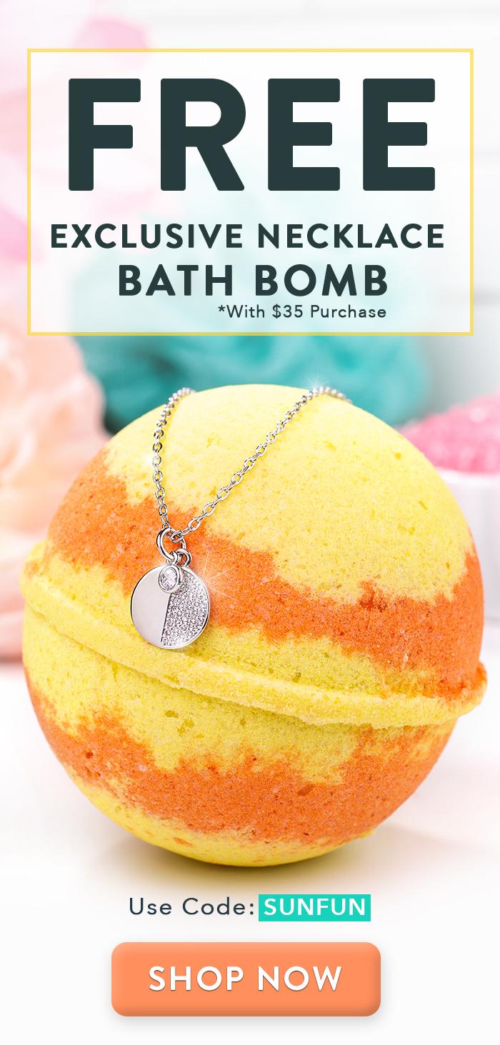 Free Exclusive Necklace Bath Bomb